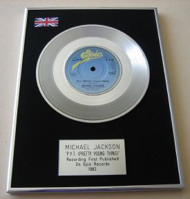 MICHAEL JACKSON - P.Y.T. (PRETTY YOUNG THING) PLATINUM single presentation Disc
